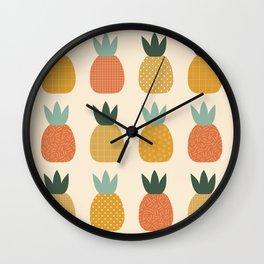 Pineapple Queens Wall Clock