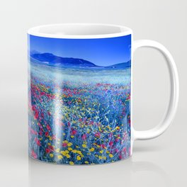 Spring poppies at blue hour Coffee Mug