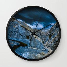 Schöllenen Gorge, Switzerland Wall Clock