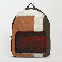 Textured Cubism -Modern Art - Color Blocking Art - Hospitality Art - Corbin Henry Backpack