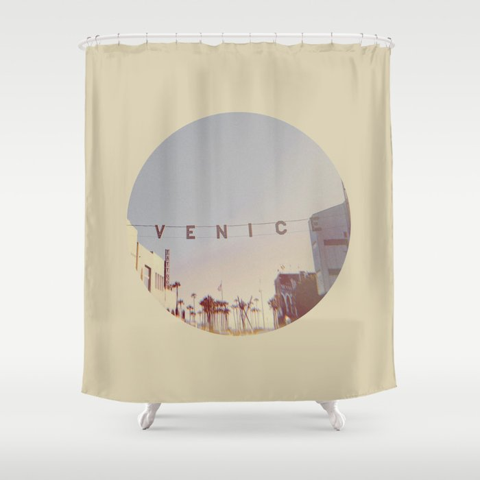 VENICE BEACH California Shower Curtain By Factory86