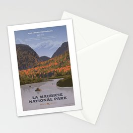 La Mauricie National Park Poster, Quebec Stationery Cards