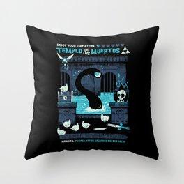 Templo de los Muertos Throw Pillow