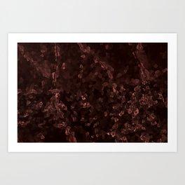 Stone coral - dark Art Print