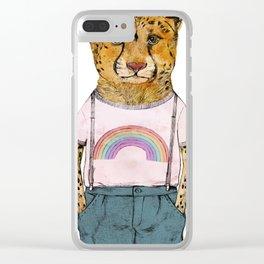 Little Cheetah Clear iPhone Case