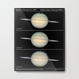 Hubble Space Telescope - Quadruple Saturn moon transit snapped by Hubble Metal Print