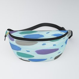 Winter Blue Ice Storm Fanny Pack