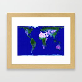 World map gall peters art print by vintageby2sweet society6 world map gall peters framed art print gumiabroncs Gallery
