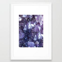 Amethyst Crystal Cluster Framed Art Print