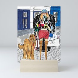 SoHo Girl – Original Fashion art, Fashion Illustration, Fashion wall art, Fashion painting, New York Mini Art Print