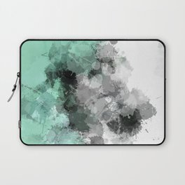 Mint Green Paint Splatter Abstract Laptop Sleeve
