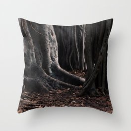 Spooky Winter Trees Throw Pillow