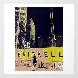 Brickell Babe Art Print