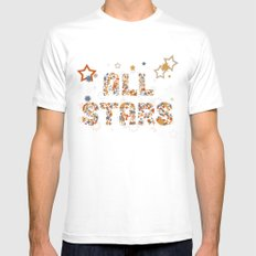 All Stars MEDIUM White Mens Fitted Tee