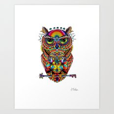 Owl of Sacred Knowledge Art Print