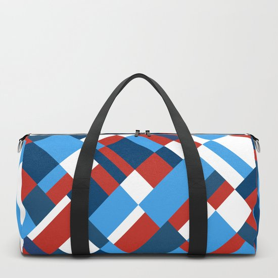 Map 45 Red White and Blue Duffle Bag by projectm  bf0de7a7bdeca