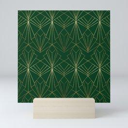 Art Deco in Gold & Green Mini Art Print