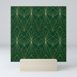 Art Deco in Gold & Green Mini Art Print