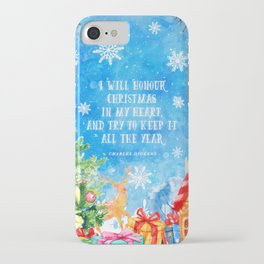 I will honour christmas in my heart iPhone Case