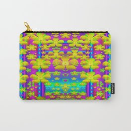 Outside the curtain it is peace florals and love Carry-All Pouch