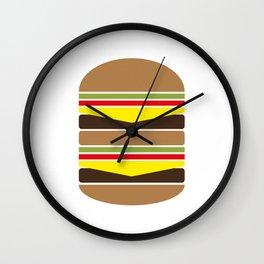 Burger Illustration Wall Clock