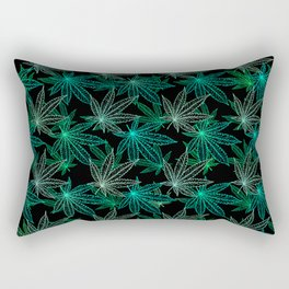 Cannabis Leaf (Black Glow) - Frost Rectangular Pillow
