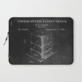 Beehive Patent with Bees Laptop Sleeve