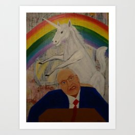 Unicorn Love Cheney Art Print