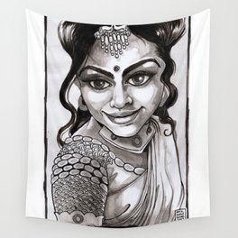 Indian Beauty Wall Tapestry
