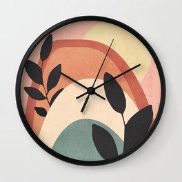 Abstract Art Rainbow 6 Wall Clock
