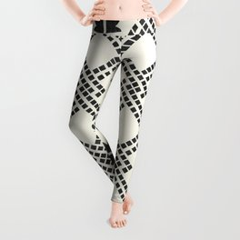 Fleur in Black and White Leggings