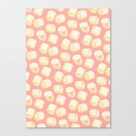 Marshmallow Pattern - Pink Canvas Print