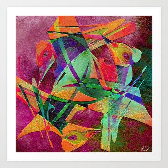 """"""" Rainbow bird  """"  Art Print"""