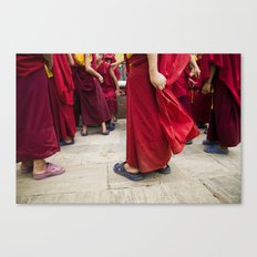 Young monks Canvas Print
