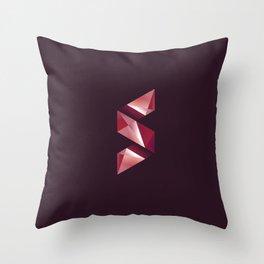 Alphabet letter polygon S Throw Pillow