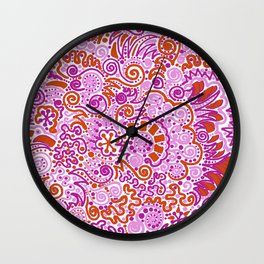 Pink + Orange = YES Wall Clock