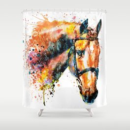 Colorful Horse Head Shower Curtain
