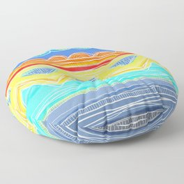 Sunrise Geometrics Floor Pillow