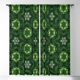 green patchwork mandala stars Blackout Curtain