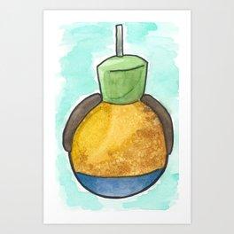 Goofy Caramel Apple Art Print