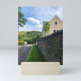 Stone Wall in Edinburgh Mini Art Print