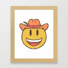 Cowboy Rancher cattleman  Smiley Gift Framed Art Print