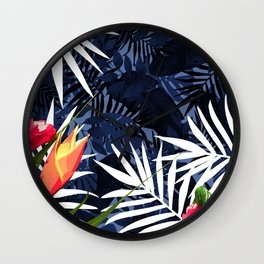 Bold Tropical Paradise Design Wall Clock