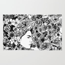 "PHOENIX AND THE FLOWER GIRL ""REFLECTION"" SINGLE PRINT Rug"