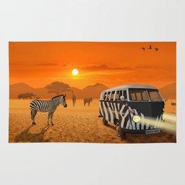 Africa Safari and stripes meeting Rug