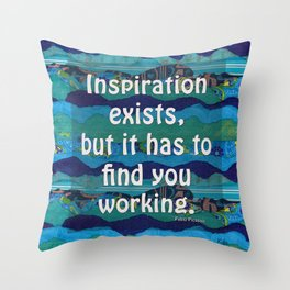 Inspiration exists by Kylie Fowler Throw Pillow
