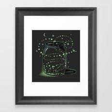 The Empty Jar of Fireflies Framed Art Print