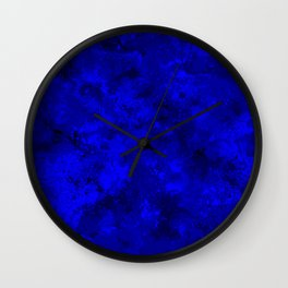 Blue Spatter Camouflage Wall Clock