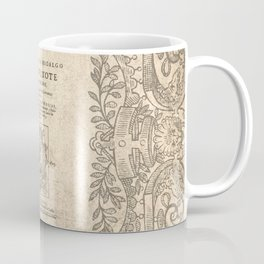 Cervantes. Don Quijote, 1605. Coffee Mug