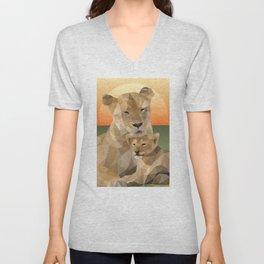Sunset Lions Unisex V-Neck